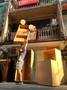 新北搬家 – 三重老公寓手工吊掛搬運紀錄