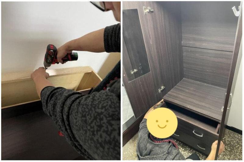 台北搬家 - 套房個人衣櫃免費拆裝服務