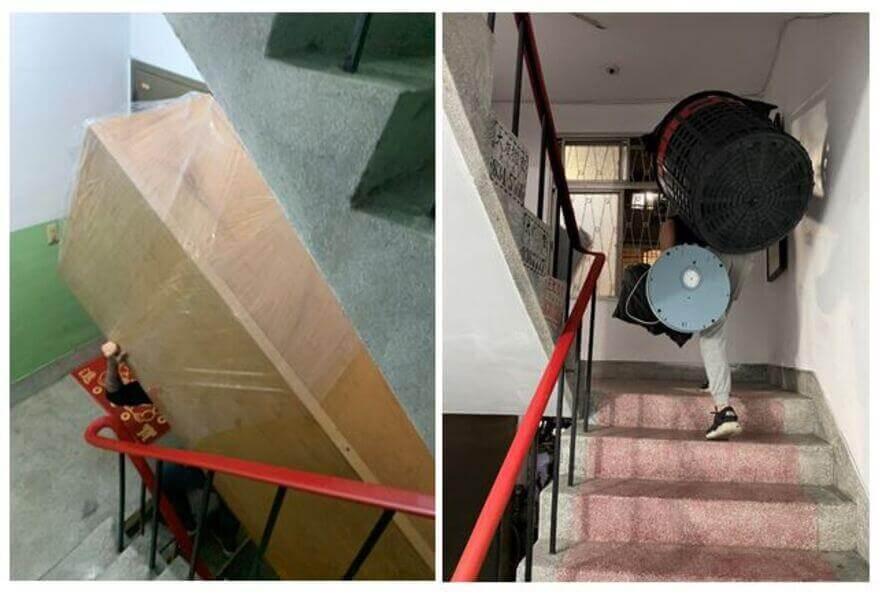 無電梯老式公寓,狹窄樓梯間該怎麼搬運?